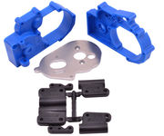 RPM Blue Gearbox Housing and Rear Mounts for Traxxas 2wd Vehicles