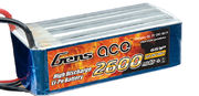 Gens Ace 2600mAh 6s (22,2V) 60C Lipo Battery Pack