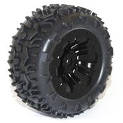 FTX Carnage PreGlued Tires With Black Wheel (2)