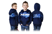 Xray Junior Sweater Hooded With Zipper - Blue (L)