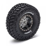 "Louise Tire & Wheel CR-GRIFFIN 1.9"" Black Chrome Crawler (2)"