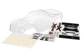 Body X-Maxx clear, untrimmed with decal sheet