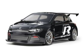 Tamiya 1/10 Volkswagen Scirocco GT - Pre-painted Black Body -  (TT-01 Type-E) - KIT