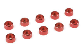 Team Corally Aluminium Washer for M3 Socket Head Screws OD=8mm Red (10)