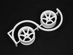 Racing Performer Drift Wheel 6 spoke 02 - 6mm Offset - White (2)