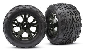 Traxxas Talon Tyres Pre-Glued on All-Star Black Chrome Wheels (2.8 Inch) (2)